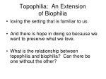 topophilia an extension of biophilia