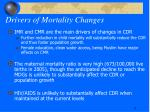 drivers of mortality changes