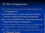 ii the conjugations