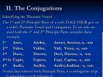 ii the conjugations3