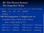 iii the present system the imperfect tense2