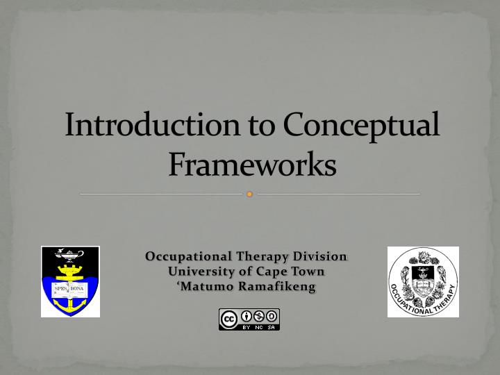 introduction to conceptual frameworks n.