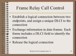 frame relay call control