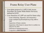 frame relay user plane