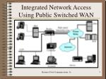 integrated network access using public switched wan