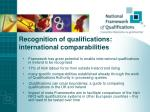 recognition of qualifications international comparabilities
