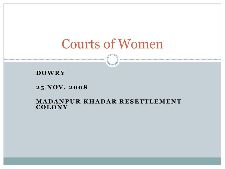courts of women n.