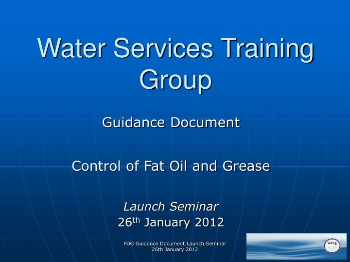 water services training group n.