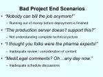 bad project end scenarios1