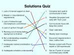 solutions quiz