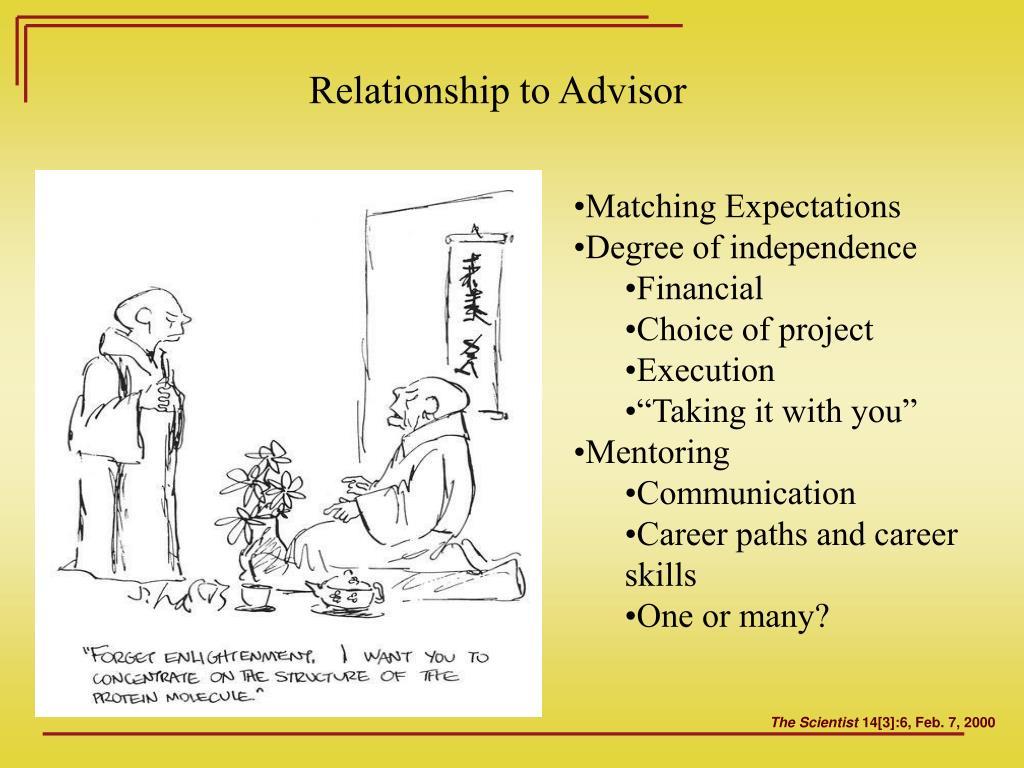 Relationship to Advisor