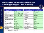 access web service in powerscript data type support and mapping