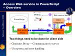 access web service in powerscript overview