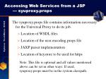 accessing web services from a jsp syuproxy props
