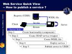 web service quick view how to publish a service
