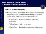 web service quick view where to find a service