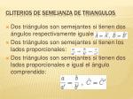 cliterios de semejanza de triangulos