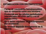 estimulacion con eritropoyetina