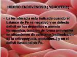hierro endovenoso venofer3