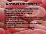 medidas anestesicas