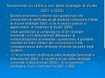 questionari su utilit e uso delle strategie di studio qs1 e qs2