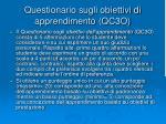 questionario sugli obiettivi di apprendimento qc3o