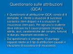 questionario sulle attribuzioni qca