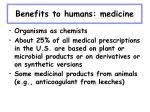 benefits to humans medicine