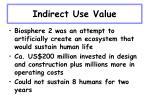 indirect use value10