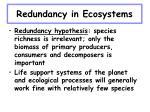 redundancy in ecosystems25