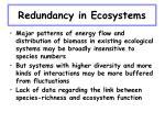 redundancy in ecosystems27
