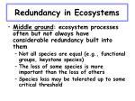 redundancy in ecosystems28