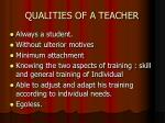 qualities of a teacher