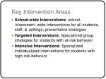 key intervention areas