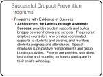successful dropout prevention programs