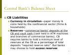 central bank s balance sheet1