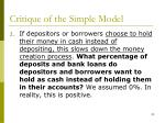 critique of the simple model1