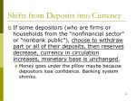 shifts from deposits into currency
