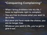 conquering complaining15