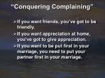 conquering complaining17