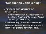 conquering complaining18