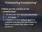 conquering complaining26