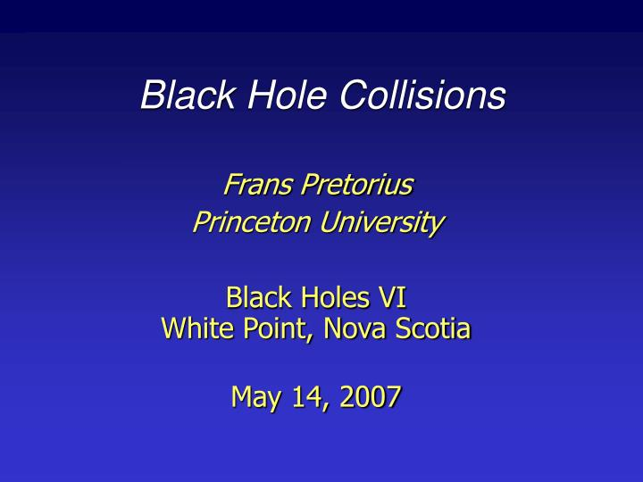 black hole collisions n.