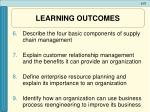 learning outcomes2