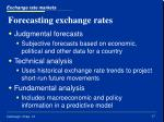forecasting exchange rates