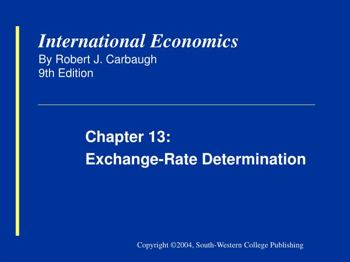 international economics by robert j carbaugh 9th edition n.