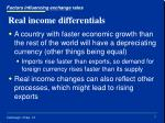 real income differentials