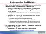 background on dual eligibles