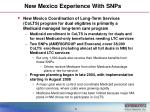 new mexico experience with snps