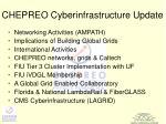 chepreo cyberinfrastructure update